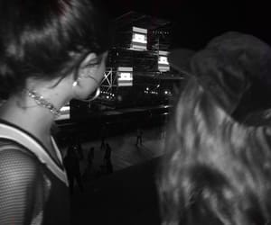 b&w, best friends, and concert image