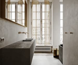 bathroom interior, decoration, and home decor image