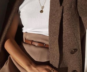 brown, chic, and vibes image