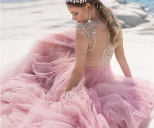 dress, beach, and pink image