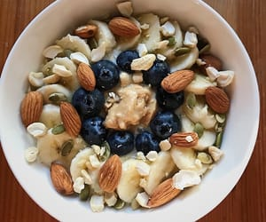 almonds, breakfast, and fitness image