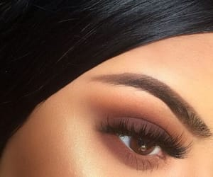 makeup, eyebrows, and beautiful image