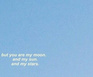 blue, quotes, and moon image