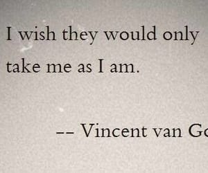 quotes, vincent van gogh, and words image