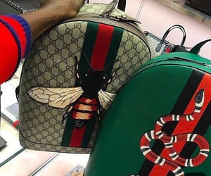 gucci, snake, and backpack image