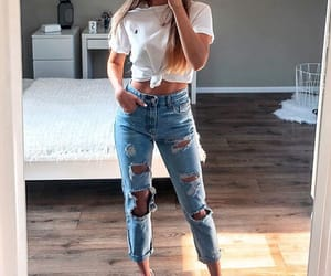 outfit, girl, and look image