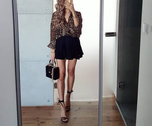 accesories, animal print, and blouse image