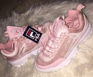 Fila, pink, and shoes image