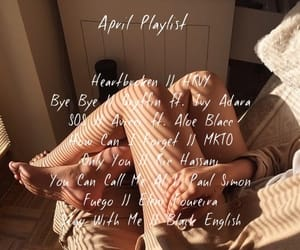 april, music, and playlist image