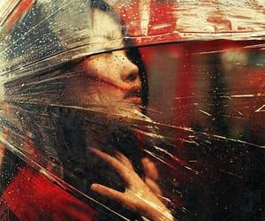 girl, night, and rainy image