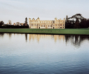 mansion, water, and audley end house image