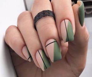 acrylics, lines, and nail art image