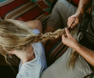love, couple, and hair image