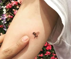 arm, bee, and tattoo image