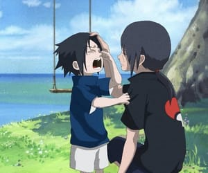 anime, brothers, and itachi image