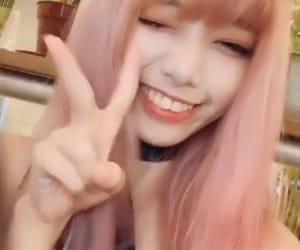 edit, hair, and pink image