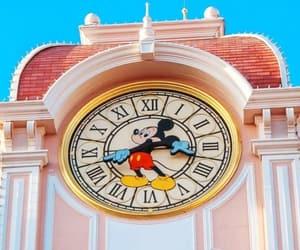 blue, clock, and disney image