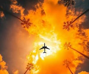 summer, airplane, and orange image