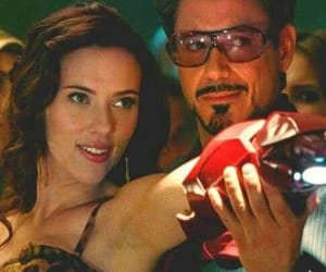 tony stark, Marvel, and Scarlett Johansson image