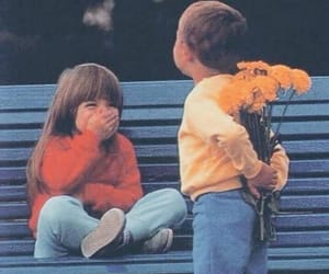 flowers, child, and love image
