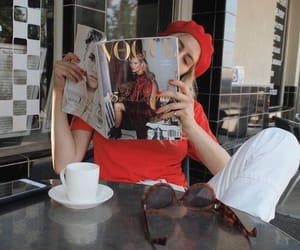 vogue, fashion, and red image