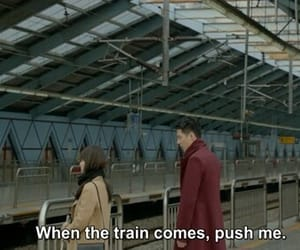 train, sad, and suicide image