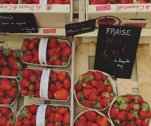 color, strawberries, and food image