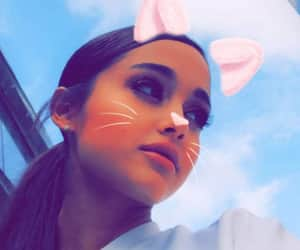 ariana grande, pfp, and snapchat filter image