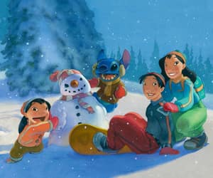 david, family, and lilo and stitch image