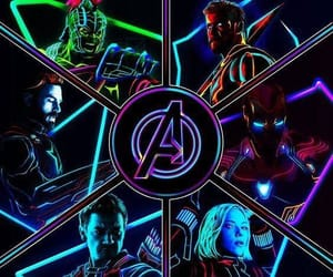Avengers, neon, and wallpaper image