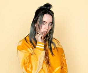 singer, style, and yellow image