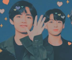 heart, v, and bts image