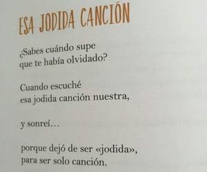 cancion, olvidar, and relacion image
