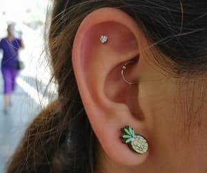 ear, flat, and piercing image