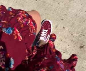 dress, matching, and maroon image