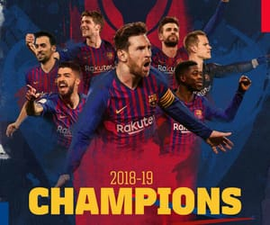 Barcelona, football, and sports image