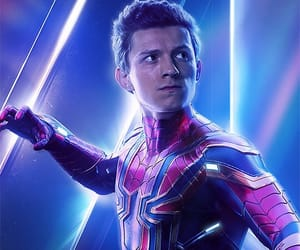 tom holland, spiderman, and Avengers image