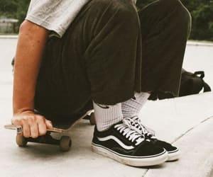 skate, vans, and boys image