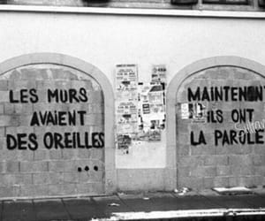 wall, french, and quotes image