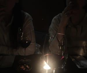 boy, couple, and dark image
