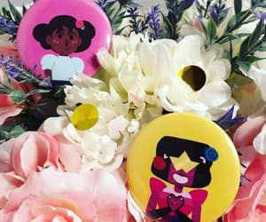 chibi, cute, and flowers image