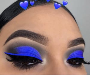 makeup and blue image
