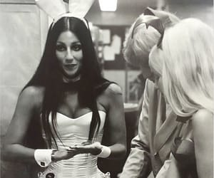 70s, black and white, and cher image