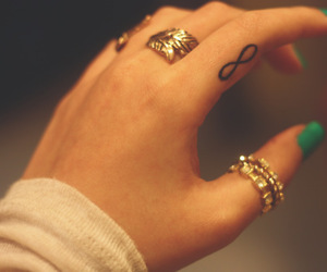 tattoo, infinity, and nails image