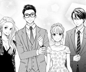 anime, b&w, and couple image