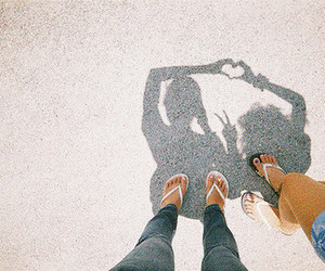 heart, friends, and shadow image