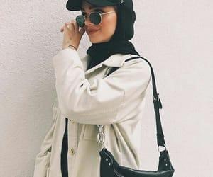 hijab, black, and Blanc image