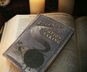 harry potter, potion, and book image