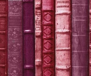 antique, pink, and books image