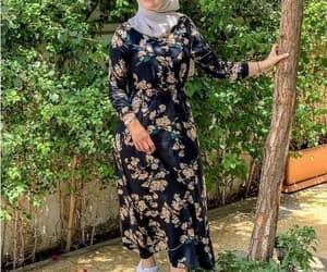 maxi dress hijab style image